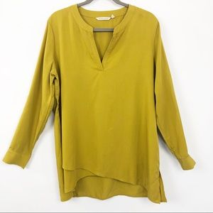 Soft Surroundings Asymmetrical Tunic Large Mustard